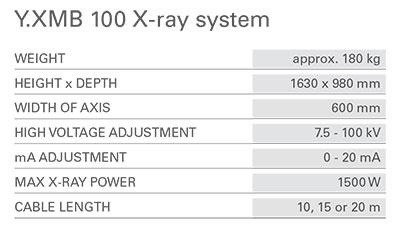 مشخصات سیستم موبایل اشعه ایکس 100 کی وی